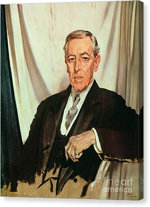 Portrait Of Woodrow Wilson Canvas Print by Sir William Orpen