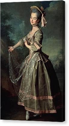 Portrait Of Yekaterina Nelidova Canvas Print by Dmitri Grigor'evich Levitsky