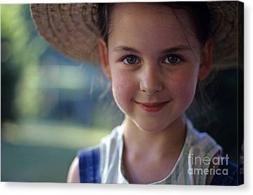 Portrait Of Young Girl Canvas Print by Jim Corwin