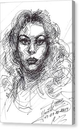 Portrait Sketch  Canvas Print