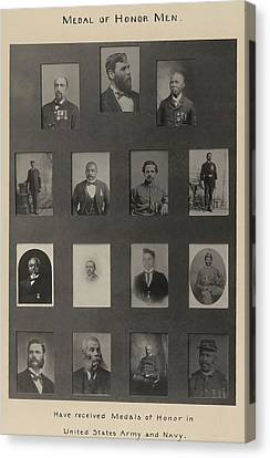 Portraits Of 15 African American Canvas Print by Everett