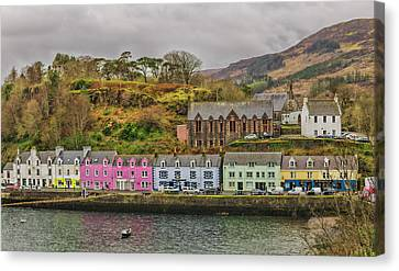 Storm Canvas Print - Portree Harbour by Mike Herdering
