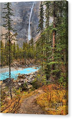 Canvas Print featuring the photograph Portrait Of Takakkaw Falls by Adam Jewell