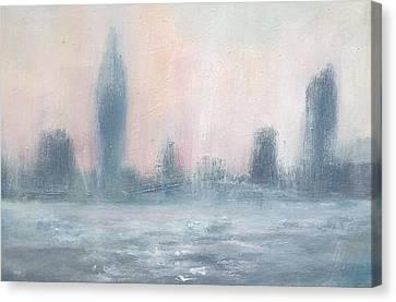 Portsmouth Dawn Part Five Canvas Print by Alan Daysh