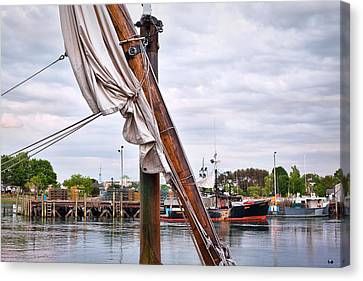Portsmouth Gundalow Sail Canvas Print by Eric Gendron