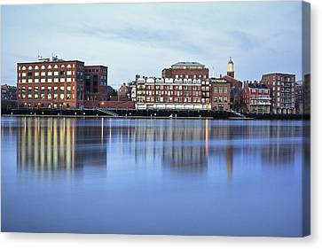 Portsmouth Harbor Reflections Canvas Print by Eric Gendron