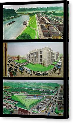Portsmouth Ohio 1955 Canvas Print