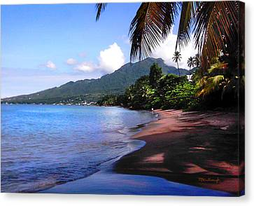 Portsmouth Shore On Dominica Filtered Canvas Print