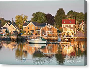 Canvas Print featuring the photograph Portsmouth South End Waterfront by Susan Cole Kelly