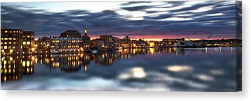 Portsmouth Waterfront Panorama Canvas Print