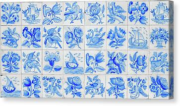 Portugal Typical Tiles Canvas Print