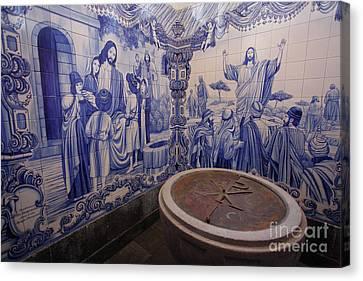 Portuguese Azulejo Mural Canvas Print by Gaspar Avila