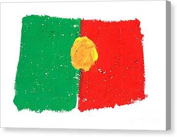 Portuguese Flag Canvas Print by Gaspar Avila