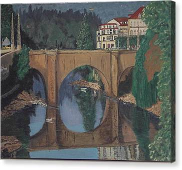 Portuguese River Bridge Canvas Print by Hilda and Jose Garrancho