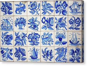 Portuguese Tiles Canvas Print by Carlos Caetano