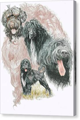 Working Dog Canvas Print - Portuguese Water Dog W/ghost by Barbara Keith