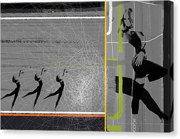 Pose And Jump Canvas Print by Naxart Studio