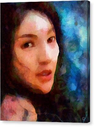 Poser Girl Canvas Print