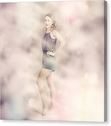 Posh Retro Fashion Pinup Canvas Print by Jorgo Photography - Wall Art Gallery