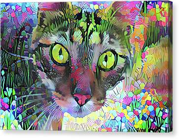 Posie The Tabby Cat Canvas Print