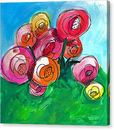 Posies Canvas Print by Tonya Doughty