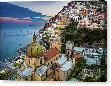 Positano Evening Canvas Print by Inge Johnsson