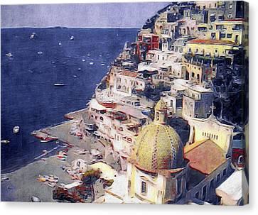 Italian Landscape Canvas Print - Positano by Susan Maxwell Schmidt