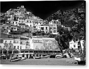 Positano Top View Canvas Print by John Rizzuto