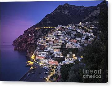 Positano Twilight Canvas Print by Brian Jannsen