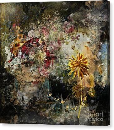 Positive Damage ... Growth Canvas Print by Monique Hierck