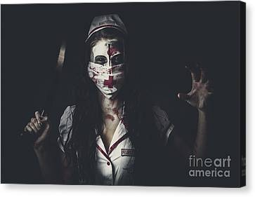 Possessed Health Practitioner With Surgeon Saw Canvas Print by Jorgo Photography - Wall Art Gallery