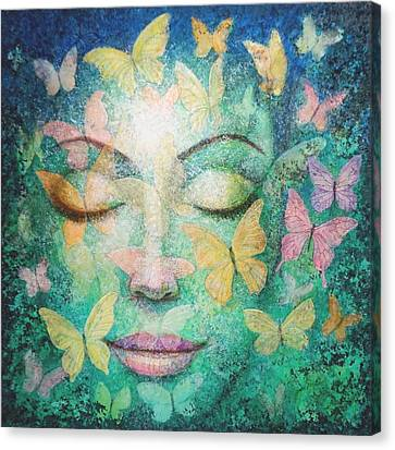 Canvas Print featuring the painting Possibilities Meditation by Sue Halstenberg