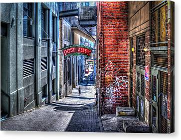 Canvas Print featuring the photograph Post Alley Straggler by Spencer McDonald