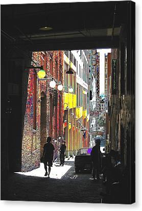 Post Alley Canvas Print by Tim Allen