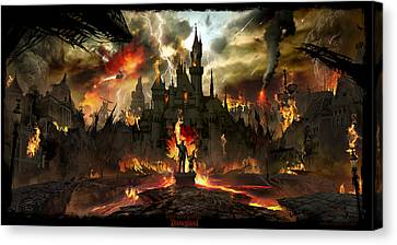 Destruction Canvas Print - Post Apocalyptic Disneyland by Alex Ruiz