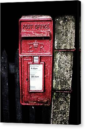 Post Box Canvas Print by Martin Newman