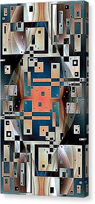 Post Modern Woman Continuum Ten Canvas Print by Jack Dillhunt