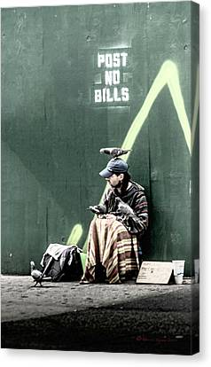 Canvas Print featuring the photograph Post No Bills by Marvin Spates