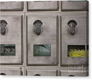 Post Office Boxes Canvas Print