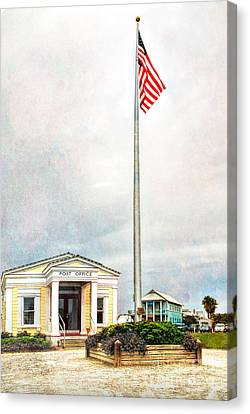 Post Office In Seaside Florida Canvas Print