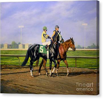 Post Parade Canvas Print by Jeanne Newton Schoborg