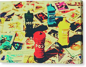Postage Pop Art Canvas Print by Jorgo Photography - Wall Art Gallery