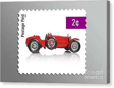 Postage Stamp Canvas Print