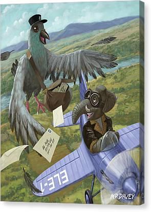 Postal Bird Canvas Print by Martin Davey
