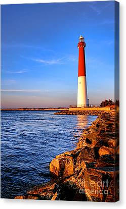 Postcard From Barnegat  Canvas Print by Olivier Le Queinec