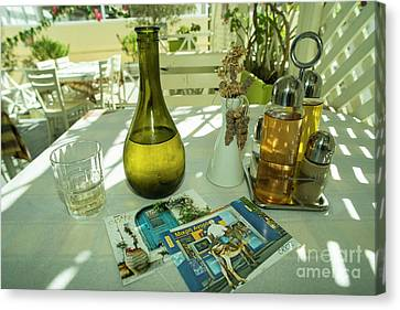 Vino Canvas Print - Postcards From Crete  by Rob Hawkins