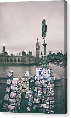 Postcards Canvas Print - Postcards From Westminster by Martin Newman