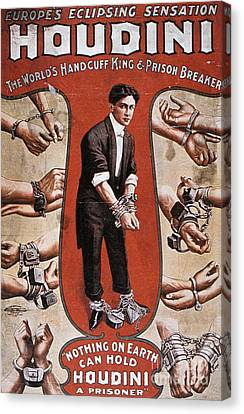 Marketing Stunt Canvas Print - Poster Advertising A Performance By Houdini, 1906 by American School