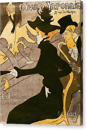 Hat Canvas Print - Poster Advertising Le Divan Japonais by Henri de Toulouse Lautrec