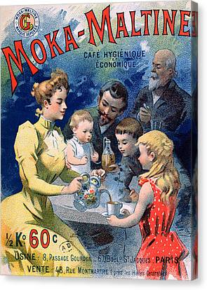 Poster Advertising Moka Maltine Coffee Canvas Print by French School